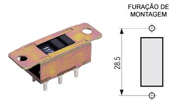 113 – Chave H-H 6 pinos para placa CI 113F / 113R / 113FG / 113RG