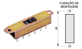 115 – Chave H-H 12 pinos para placa CI 115F / 115R / 115FG / 115RG