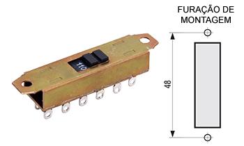 116 – Chave H-H 12 pinos para solda 116F / 116R / 116FG / 116RG
