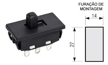 119 – Chave H-H 6 pinos para painel alavanca alta