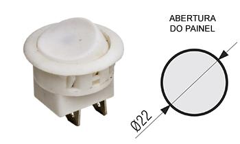 126 - interruptor branco